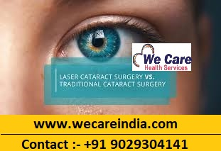 How does Traditional Cataract Surgery differ from Laser Cataract Surgery